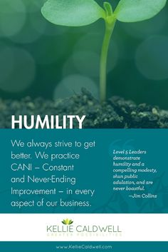 """Humility makes us better. It teaches us how to live with more strength & greater influence. It allows us to give the best of ourselves, and then receive the best from others. We always have something to learn. When you set """"ego"""" down and pick humility up the reality that """"the greatest lessons we have to teach others are the very ones we must also learn ourselves"""" begins to work in your life like magic. Where can you apply more humility in your life? What effect will it have on those around…"""