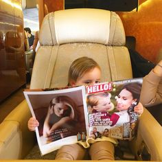 Heading home earlier this week....Sophia keeping up to date with the latest social news @hellomaguk