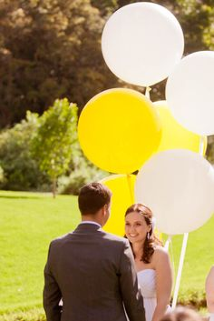 Ashleigh and James (Giant Balloon Backdrop for Ceremony)- Event Design and Styling by Mary&Gabrielle - Photography by James Field