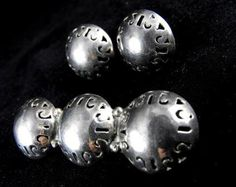 Old Sterling Bar Pin Earrings Set Galindo Mexico 925 by hipcricket, $30.00
