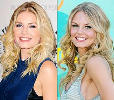 Celebrity Look-Alikes - Seeing double? Even the Hollywood elite have doppelgängers! Elisha Cuthbert and Jennifer Morrison