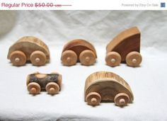 Wooden cars. Can we make some of these for Dean?