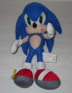 """SOLD!!! Sonic the Hedgehog 11"""" Plush Stuffed Doll Figure Blue Toy Network #ToyNetwork"""