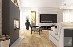 Dom w Milanówku Scandinavian Interior Design, Flat Screen, Contemporary, Home Decor, Ideas, Living Room, Blood Plasma, Decoration Home, Room Decor
