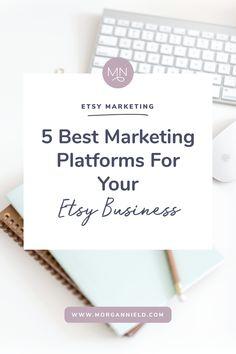 The 5 best marketing platforms for your etsy shop sztuka/ bu Etsy Business, Craft Business, Creative Business, Business Tips, Business Entrepreneur, Online Business, Etsy Seo, Online Work, Uk Online