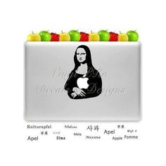 Mona Lisa Decal for Macbook Art History Design Renaissance Paintings Sculpture Lovers for Apple Laptops