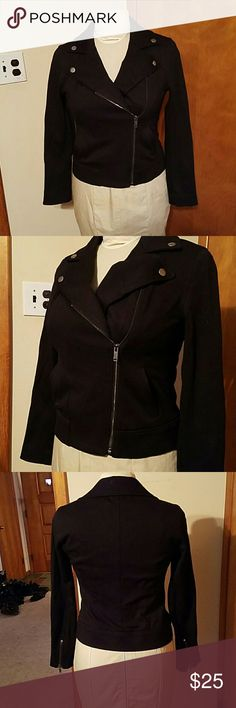 NWOT old navy moto jacket Beautiful brand new without tags Old navy light weight moto jacket. Black size small. Asymmetrical zipper. Super cute! Old Navy Jackets & Coats