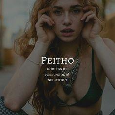 peitho / goddess of persuasion & seduction Female Character Names, Female Names, Female Goddess Names, Female Fantasy Names, Cool Fantasy Names, Greek Mythology Gods, Greek Gods And Goddesses, Names Of Goddesses, Greece Mythology