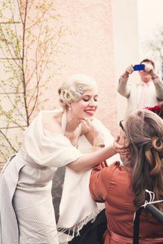 Vintageprylar, vintage bröllop, vigsel, kyrka