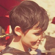 short hair cut style pixie brunette @nothingbutpixies Instagram photos | Websta