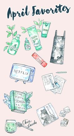What I loved in April & Free Netflix Stickers — evydraws