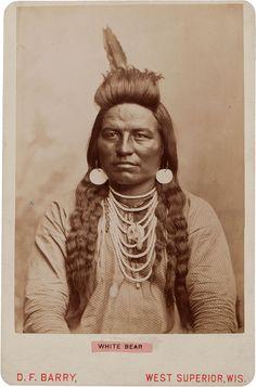 Photographs of Native American Indians : White Bear - Crow. American Crow, Native American Pictures, Native American Beauty, Native American History, American Indians, Indian Pictures, Sioux, Navajo, Crow Indians