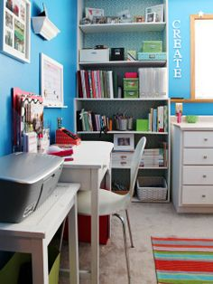 beautfiul craftroom organization IHeart Organizing: A Surprise Craft Room Before & After Story