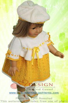strikke dukkeklær oppskrifter