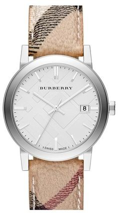 Burberry Large Check Strap Watch, 38mm