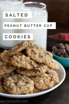 An award winning recipe for salted peanut butter cup cookies. Gooey, and chocolately with a smooth peanut butter flavor. The perfect cookie for any occasion. #peanutbuttercupcookies #peanutbuttercup #bestevercookierecipe #awardwinningcookies #peanutbutteroatmealcookie