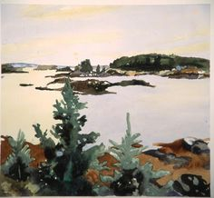 Get outside and paint! check out these gorgeous landscapes by, Fairfield Porter painter – 1975 . Watercolor Landscape, Landscape Art, Landscape Paintings, Watercolor Art, Landscapes, Contemporary Landscape, Fairfield Porter, Illustrations, Illustration Art