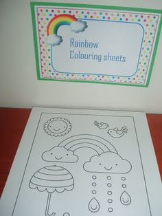 Rainbow colouring sheets.