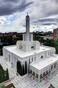 LDS Missionary Couple in the Madrid Spain Temple: Photos of the Madrid Spain Temple