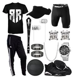 """""""Untitled #113"""" by blvcksymba on Polyvore featuring adidas, Akribos XXIV, NIKE, Beats by Dr. Dre, men's fashion and menswear"""