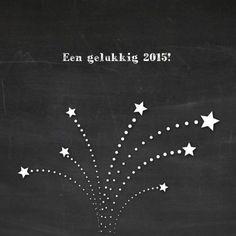 Nieuwjaarskaart met schoolbord - Nieuwjaarskaarten - Kaartje2go