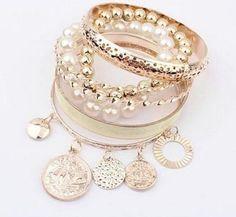 Pearl Golden Bracelet