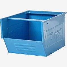 casier rangement jouet bleu - Recherche Google Toy Organization, Decoration, Box, Container, Design, Recherche Google, Basket, Blue Yellow Grey, Metal