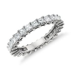 Princess Cut Diamond Eternity Ring in Platinum (2 ct. tw.)