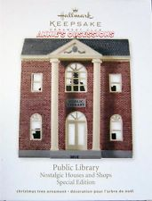 HALLMARK 2012 * PUBLIC LIBRARY * NOSTALGIC HOUSES AND SHOPS * KOC CLUB ORNAMENT