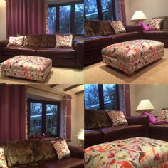 Montage of Curtains and foot stall in Voyage fabrics