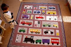 Transportation Quilt: I want to make this for Jack