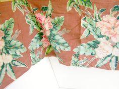 Vintage Bark Cloth Window Valance Double by nanascottagehouse, $55.00