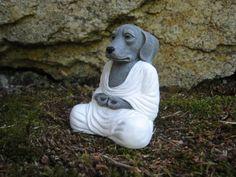 Dog Buddhas   Garden Statue