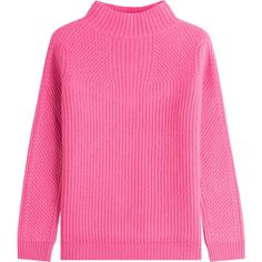 Diane von Furstenberg Pullover (€355) ❤ liked on Polyvore featuring tops, sweaters, red, pink turtleneck, pink pullover sweater, red top, red turtleneck sweater and pink top
