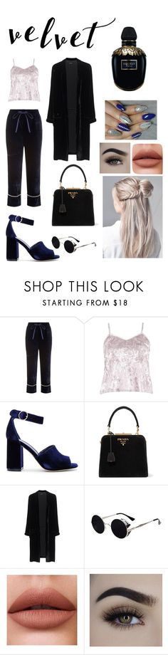 """""""velvet"""" by izabela-varga ❤ liked on Polyvore featuring Gucci, Boohoo, Joie, Prada, Jadicted and Alexander McQueen"""