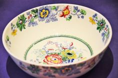 Masons Strathmore Patterned Bowl. C4792. RD:836741. Age Crazed