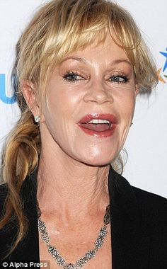 American actresses need to follow the lead of their English colleagues to see it's better to accept their age...At 70 Helen Mirren looks so much better than Melanie at 58..... MELANIE GRIFFITH, 58: Star has an off 'trout pout' after too many procedures