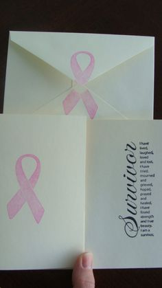 Survivor Breast Cancer Cards by kristinkaycreations on Etsy, $2.00