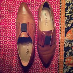 ANYI LU Tailored Flats. ANYI LU Tailored Flats.  Size 8.5 U.S. Bought these for my sister from a fellow posher for Christmas but I was a half size off . Unfortunately they are too small for me also!  Never worn outside. Handmade Made in Italy. ANYI LU Shoes Flats & Loafers