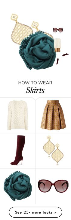 """falling into it. sweater. skirt. scarf. boots. shades"" by kohlanndesigns on Polyvore featuring LK Designs, Bajra, Stella Jean, Ava & Aiden, Joseph and Chanel"