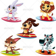 cartoon animals sports - Google Search