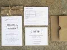 Modern Rustic Collection - Rustic Burlap Wedding Invitation Suite - by anista designs. $6.50, via Etsy.