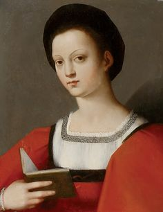 """Portrait of a Young Woman Attributed to Andrea del Brescianino (Italian, Oil on panel. Although damaged, this portrait of an unknown woman is. Italian Renaissance Dress, Mode Renaissance, Renaissance Fashion, Renaissance Costume, Louis Aragon, Renaissance Portraits, Woman Reading, Art Uk, 16th Century"