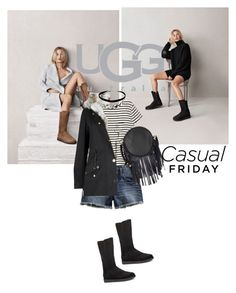 """""""Boot Remix with UGG : Contest Entry"""" by s-thinks ❤ liked on Polyvore featuring UGG Australia, H&M, Lucky Brand, Deux Lux, Topshop, Boots, striped, short, uggaustralia and topset"""