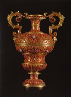 Pair of Coral Mounted Vases. Trapani. Mid-17th-c. @ Carlton Hobbs NYC