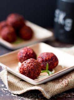 Beetroot veggie balls