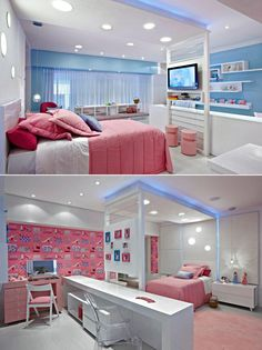 Home Decoration Online Shopping Girl Bedroom Designs, Room Ideas Bedroom, Home Bedroom, Kids Bedroom, Bedroom Decor, Awesome Bedrooms, Cool Rooms, Beautiful Bedrooms, Dream Rooms