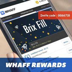 Dapatkan uang dari WHAFF REWARDS dg download game d'dalamnya