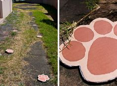 I had paw prints like this when my kids were little.  They had to follow the bunnies prints to find their Easter baskets.