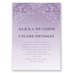 Sparkling Branches - Wedding Invitation - Twinkle lights, Seasonal at Invitations By David's Bridal